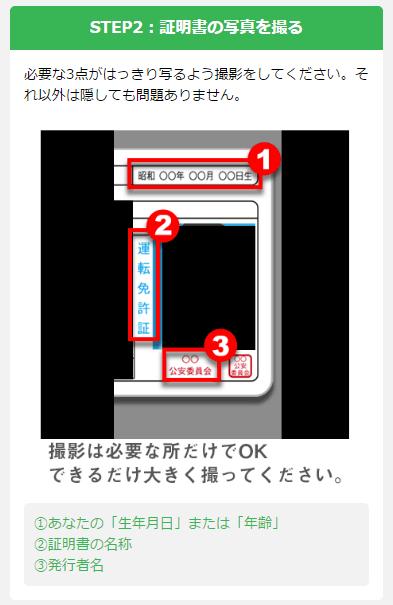 PCMAXの年齢確認に必要な情報は、3箇所だけ